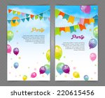 vector illustration of party... | Shutterstock .eps vector #220615456