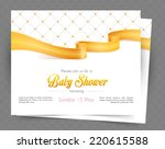 vector illustration of baby... | Shutterstock .eps vector #220615588