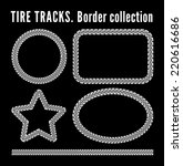 tire tracks frame set.  | Shutterstock . vector #220616686