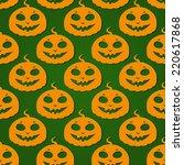 simple halloween pumpkin with... | Shutterstock .eps vector #220617868