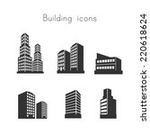 building icons | Shutterstock .eps vector #220618624