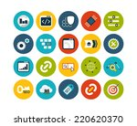 flat icons set 22   seo and...