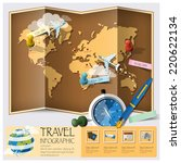 travel and journey world map... | Shutterstock .eps vector #220622134