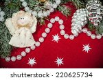 christmas background with...   Shutterstock . vector #220625734