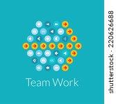 team work flat design... | Shutterstock . vector #220626688