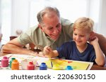 Grandfather Painting Picture...