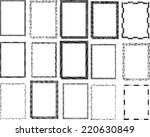 set of vector vintage grunge... | Shutterstock .eps vector #220630849