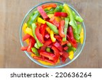 Colored Peppers Mixed In A...
