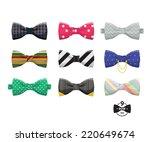 bow ties set  | Shutterstock .eps vector #220649674
