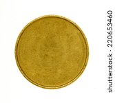 blank gold coin isolated on... | Shutterstock . vector #220653460