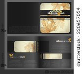 brochure template design.... | Shutterstock .eps vector #220657054