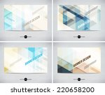 vector abstract banners... | Shutterstock .eps vector #220658200
