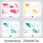 vector horizontal web banners... | Shutterstock .eps vector #220658716