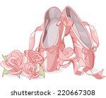 Illustration Of Ballet Slipper...