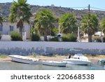 pleasure boats and embankment... | Shutterstock . vector #220668538