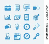 business office icons.vector... | Shutterstock .eps vector #220669924
