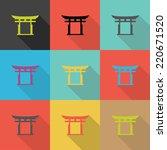 japan traditional  flat design...   Shutterstock .eps vector #220671520