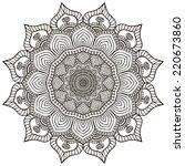 mandala. round ornament pattern.... | Shutterstock .eps vector #220673860