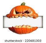 halloween blank sign as a... | Shutterstock . vector #220681303
