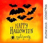 vector  happy halloween... | Shutterstock .eps vector #220687966