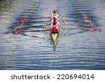 Rowers In Eight Oar Rowing...