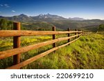 Ranch Fence Overlooking Mount...