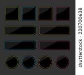 set of black shiny web buttons... | Shutterstock . vector #220700638