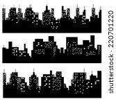 city silhouette vector | Shutterstock .eps vector #220701220
