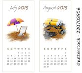 Colorful Calendar For July...