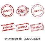 france stamps | Shutterstock .eps vector #220708306