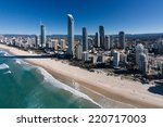 aerial view of gold coast ... | Shutterstock . vector #220717003