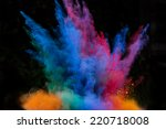 Colored Powder Isolated On...