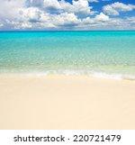 beautiful beach and tropical sea | Shutterstock . vector #220721479