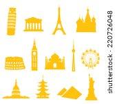 13 Gradient Free Landmark Icon...