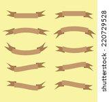 brown ribbon banner vector... | Shutterstock .eps vector #220729528