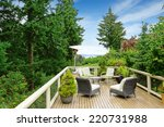 romantic patio area on walkout... | Shutterstock . vector #220731988