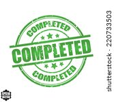 completed rubber stamp with...   Shutterstock .eps vector #220733503