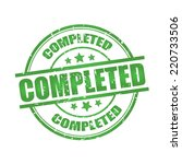 completed rubber stamp with...   Shutterstock . vector #220733506