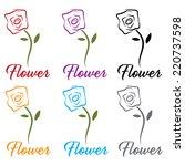 set of flowers   Shutterstock .eps vector #220737598