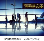 business travellers at airport | Shutterstock . vector #220740919