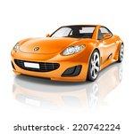 luxury 3d sports car   Shutterstock . vector #220742224