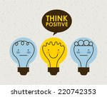 think positive graphic design   ... | Shutterstock .eps vector #220742353