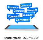 comment and tablet 3d like... | Shutterstock . vector #220743619