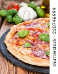 Fresh Made Salami Pizza With...