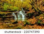 beautiful waterfalls ternopil... | Shutterstock . vector #220747390