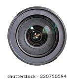 Camera Lens Isolated On White...