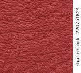 red leather texture closeup | Shutterstock . vector #220751824