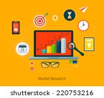 flat design vector illustration ... | Shutterstock .eps vector #220753216