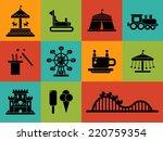 set of vector flat design... | Shutterstock .eps vector #220759354