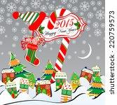 christmas landscape. merry...   Shutterstock .eps vector #220759573